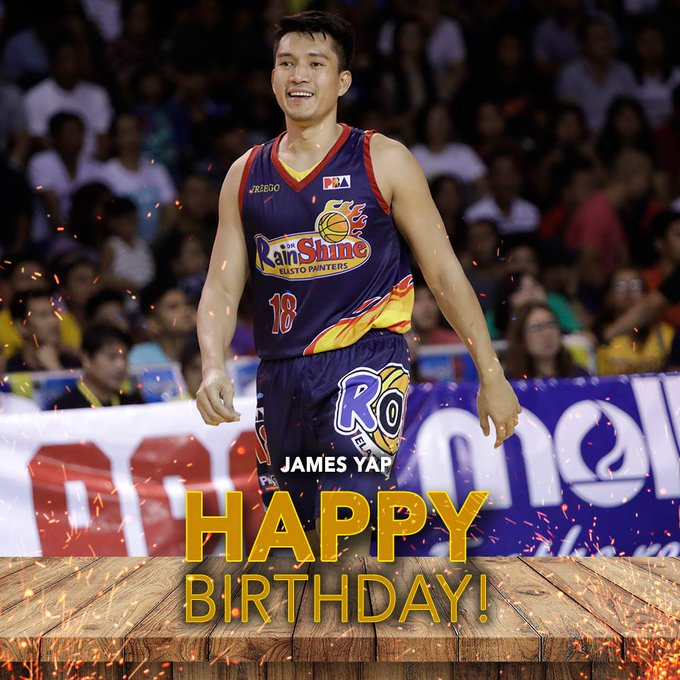 Happy 36th birthday to \Big Game\ JAMES YAP!