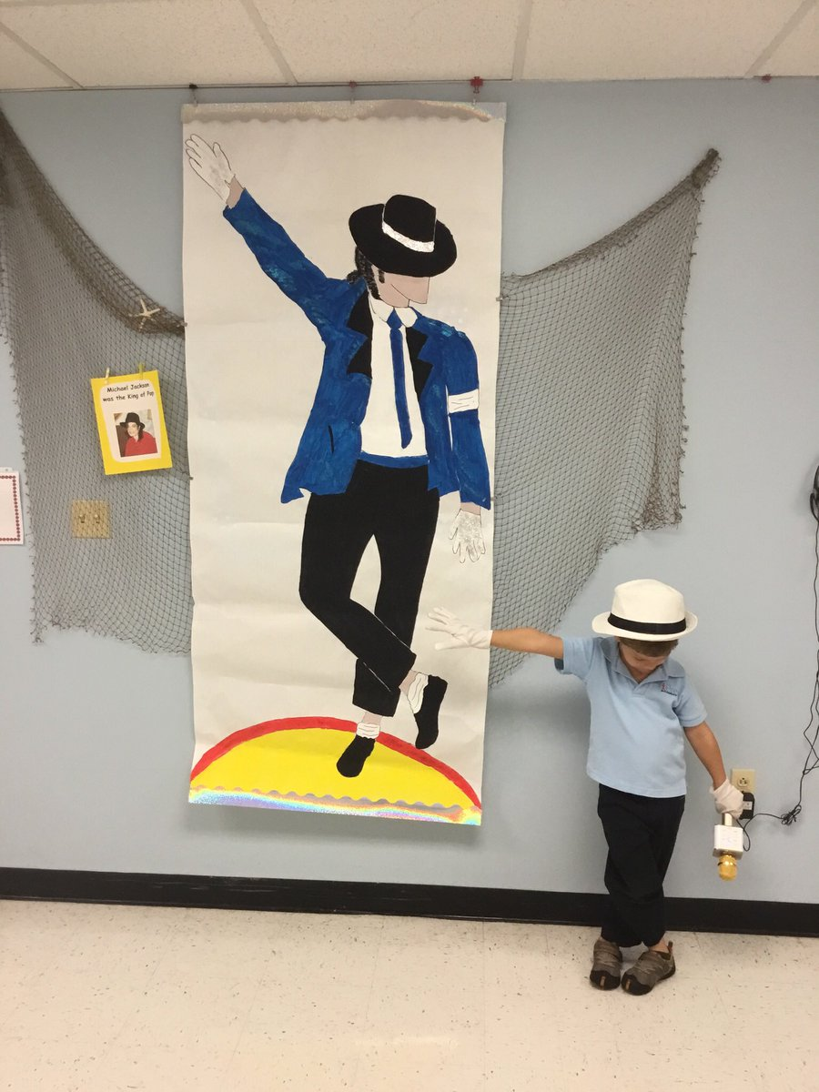 """Learning about the famous African American King of Pop """"Michael Jackson.""""  We are the world, We are the children, We are the ones who make a brighter day, So let's start giving!"""" #Feb2018BHM!"""