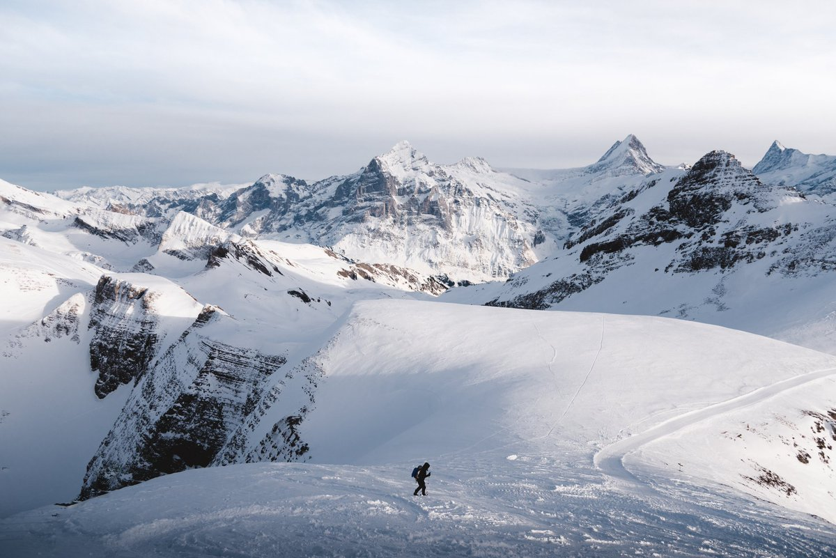 Winter hike in the Alps