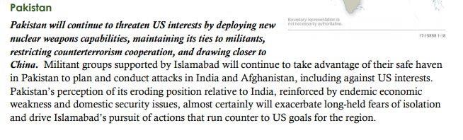 US intelligence community's @ODNIgov assessment of Pakistan behavior over the next year.