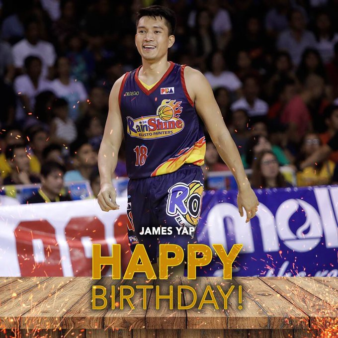 Happy birthday Big Game James Yap! more birthdays to come, God bless.