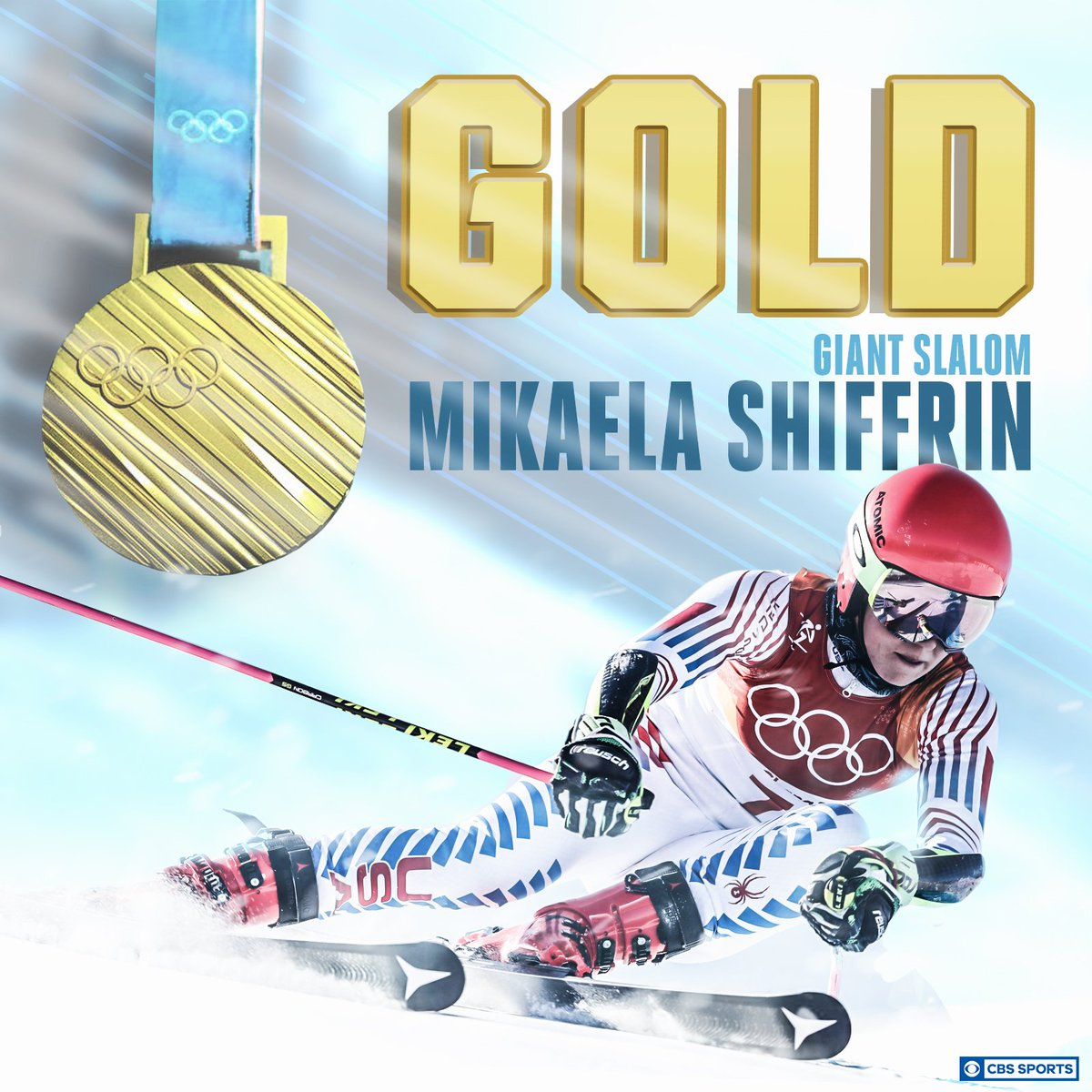 Mikaela Shiffrin is golden once again. h...