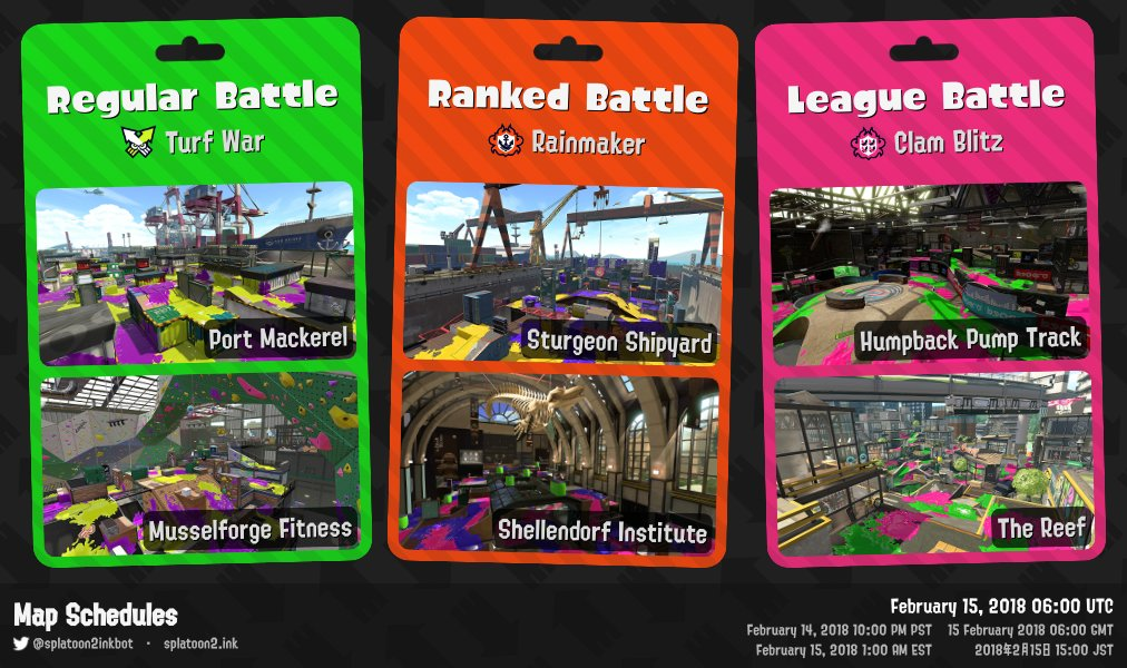 splatoon2 ink on twitter splatoon 2 map rotation ranked game mode