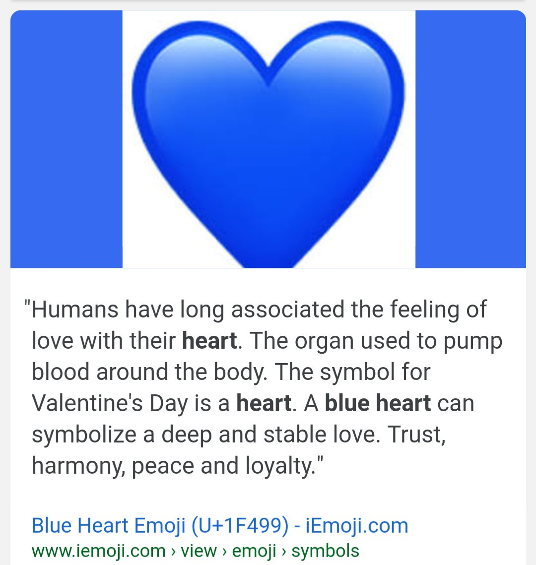 What does the blue heart emoji mean. What does the blue