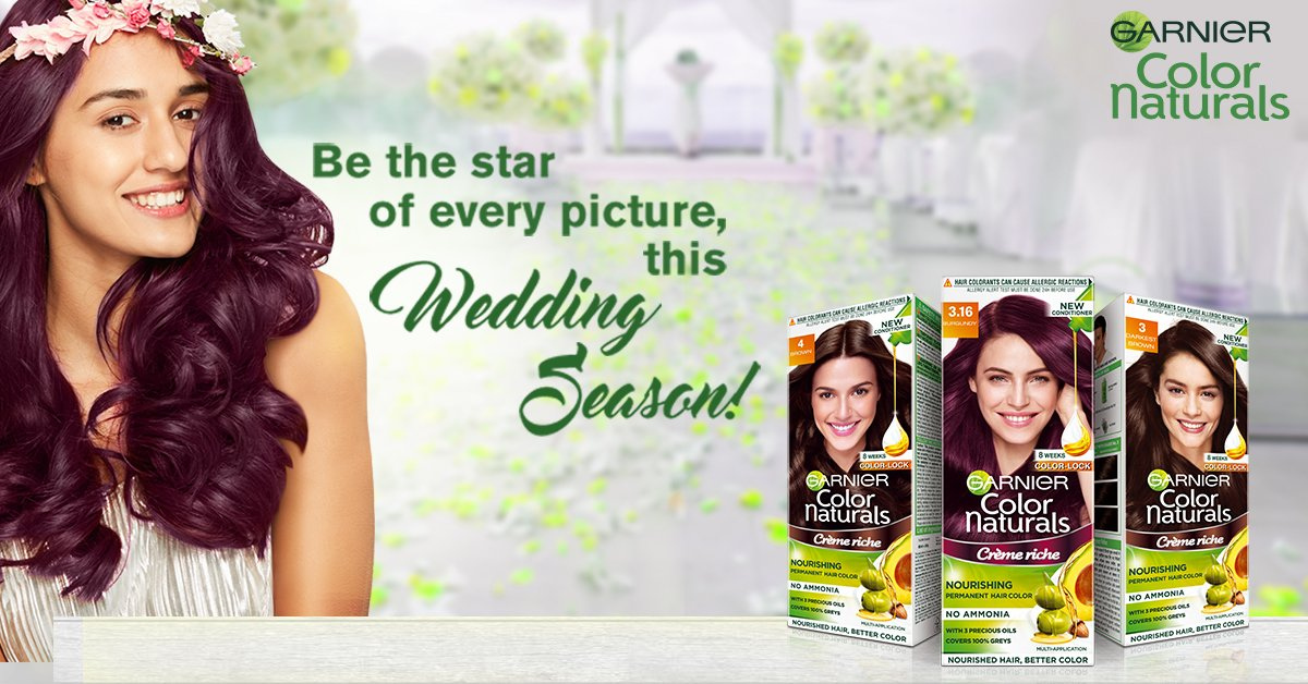 Let your hair color be as perfect as your picture! Time for you to flaunt your new hair color as you attend all the wedding festivities. Go New #GoColor this wedding season with naturals shade 5,Coffee Brown. #GarnierColorNaturals #PerfectMatch #BestHairColor #WeddingReady https://t.co/yGL58r71Km