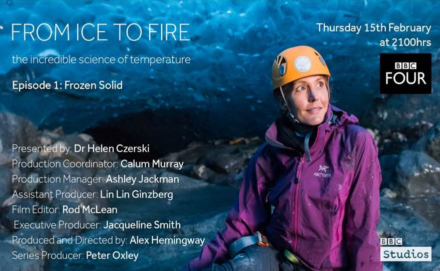 Interested in finding out how the cold shaped the world around us? Watch 'From Ice to Fire: The Incredible Science of Temperature' on @BBCFOUR at 9pm TONIGHT. BAS staff offered their advice and expertise during the production bbc.co.uk/programmes/b09… #PolarScience