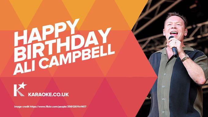 Happy Birthday to Ali Campbell!