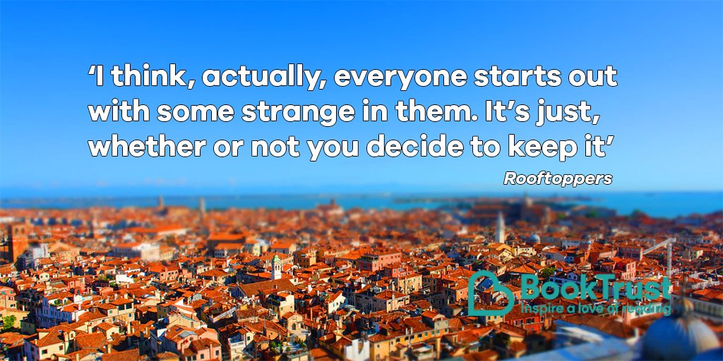 Happy Thursday, everyone! We're having a few #ThursdayThoughts courtesy of Katherine Rundell's fantastic #Rooftoppers - have you kept the strange?! pic.twitter.com/oM08dG7fEL