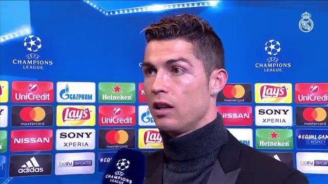 �⚽🎙 @Cristiano: Así es la Champions y el Real Madrid tiene la experiencia de que los partidos duran 90 minutos y en casa queríamos hacer un buen resultado. #APorLa13