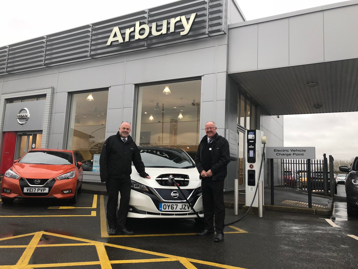 The good people at @ArburyGroup in Bromsgrove provided our LEAF with a quick charge, thanks to all for having us! #Nissan #LEAF https://t.co/gQtaJdlTZi https://t.co/CcNwp8AxAi