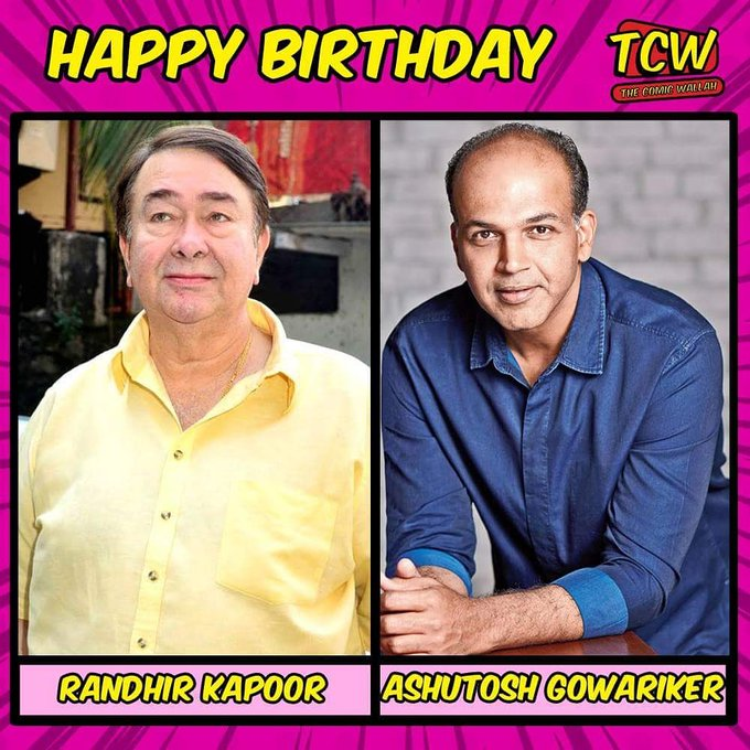 Wishing Randhir Kapoor and Ashutosh Gowariker a very happy birthday.