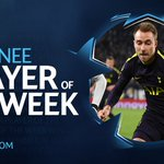 A dazzling display 🔥  @ChrisEriksen8 has been nominated for @ChampionsLeague Player of the Week.  🗳️ VOTE NOW - https://t.co/I5wYq2CSAP  #COYS