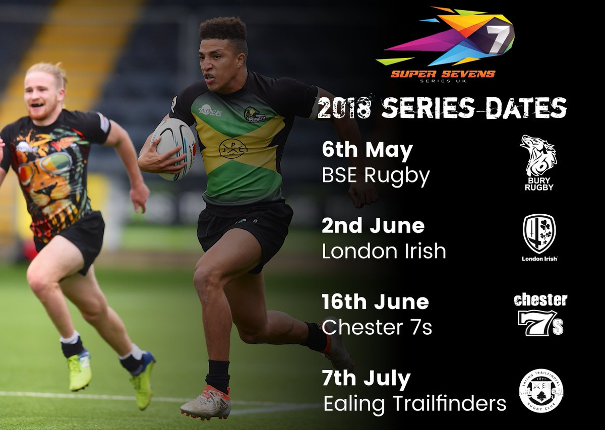 test Twitter Media - It's not long now until @S7SRugby 2018! Series dates announced @BSERugby  6th May, @LondonIrishARFC  2nd June, @chester7s 16th June, @ealingtfrugby  7th July! #SamuraiFamily #SuperSevens https://t.co/0vhagGN51y