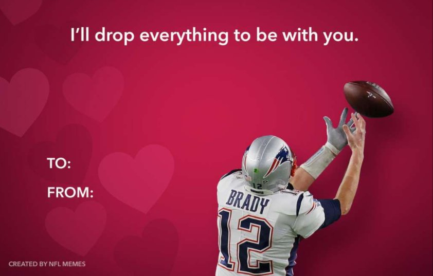 How did I miss this great Tom Brady Valentine's Day card? https://t.co/D3iOSp3n3f