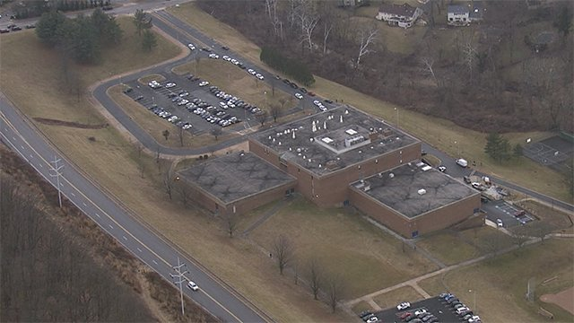 Loch Raven High School on lockdown;  at the scene. Individual showed another individual a weapon. Heavy police presence at the school, SkyTeam 11 reports #BREAKING