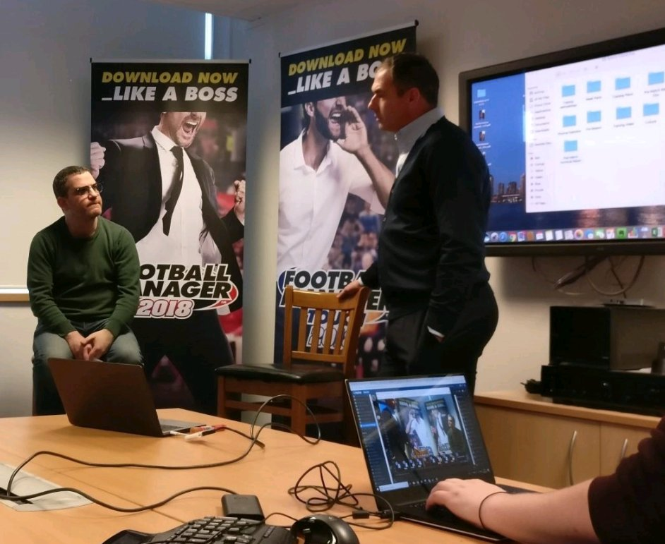 Great Q&A session on modern #football #coaching and #management with @milesSI & @PaulClement1972 at @FootballManager HQ this afternoon. Thanks to @LMA_Managers for organising.