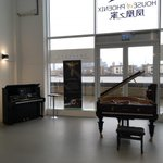 Image for the Tweet beginning: Our new piano display in