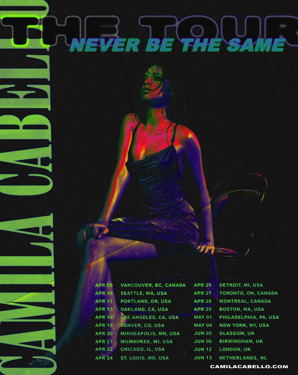 tickets for the #neverbethesametour 🔮🔮🔮 presale begins NOW ⚡️⚡️⚡️ on the East Coast and 10am local time across the US. Get them at https://t.co/MnvUQ4nkXj