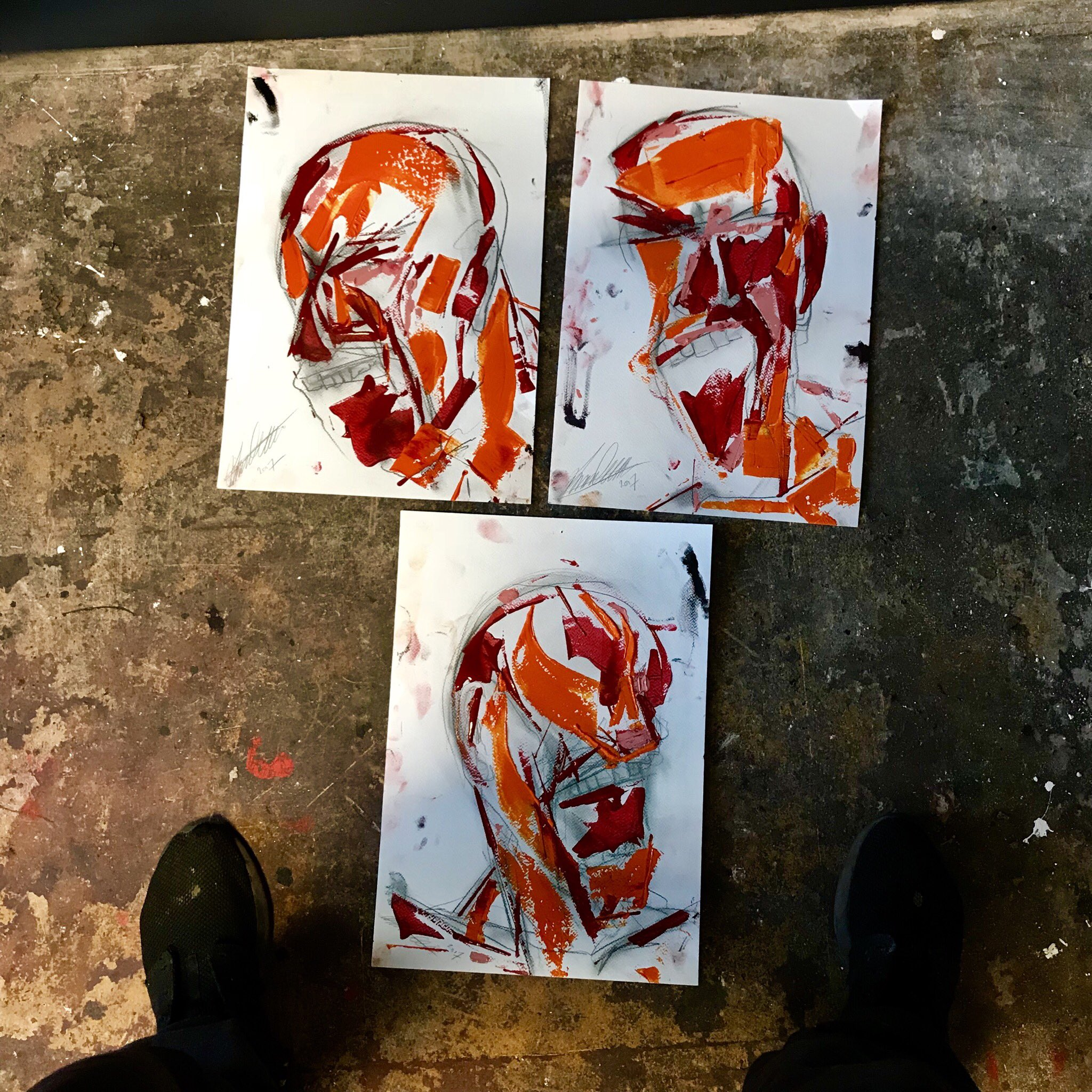 """RT @LincolnTownley: The """"studies"""" will be shown @MaddoxGallery a great entry level piece for collectors 👹 https://t.co/tutsEvts6V"""