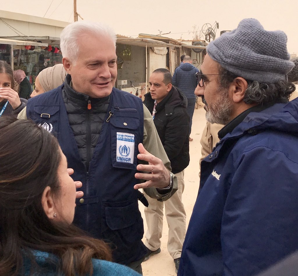 Sharing the story behind empty lots within @ZaatariCamp's crowded market with @hamdiulukaya: refugees residing in Zaatari Camp have created their own family reunification strategies by moving caravans accordingly.