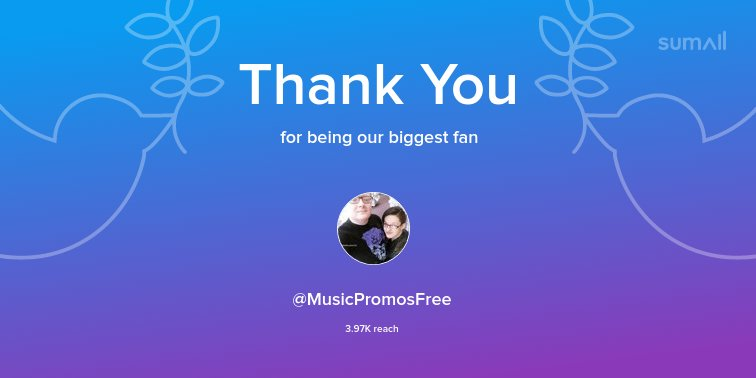 Our biggest fans this week: @MusicPromos...