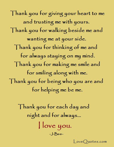 Lovequotescom On Twitter Thank You For Giving Your Heart To Me