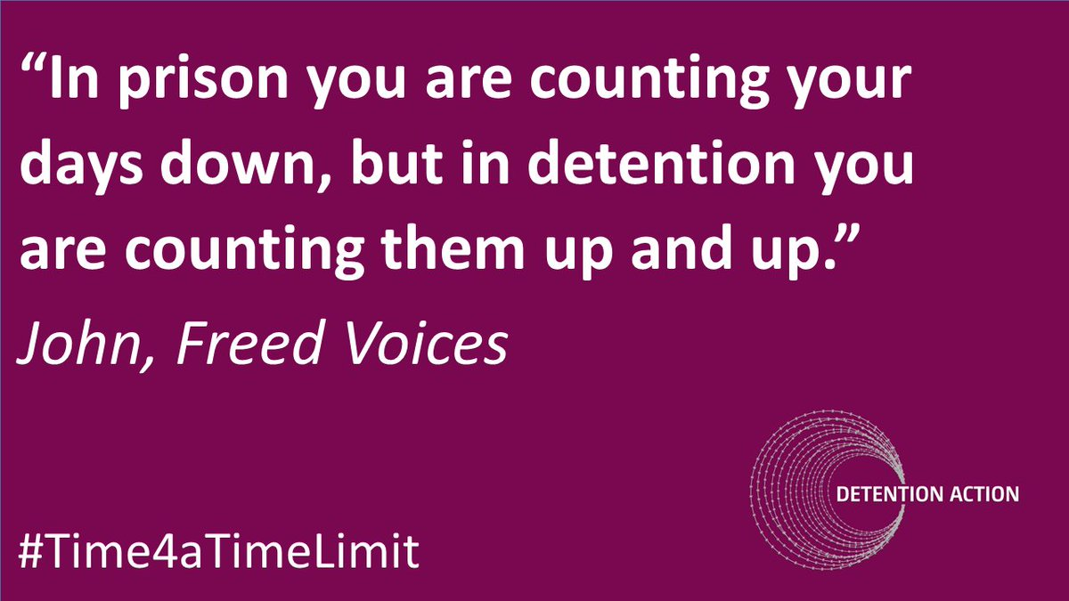 Indefinite #detention of migrants in the UK removes hope and ruins lives #Time4aTimeLimit