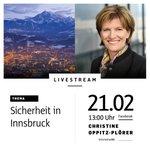 """Am 21. Februar 2018 dreht sich unser #Livestream noch einmal um das Thema """"#Sicherheit in #Innsbruck"""". Diesmal etwas früher. Wir gehen bereits um 13 Uhr #live. Ich freue mich über eure Fragen in den Kommentaren auf https://t.co/CIpgayPPvI #ibktwit"""