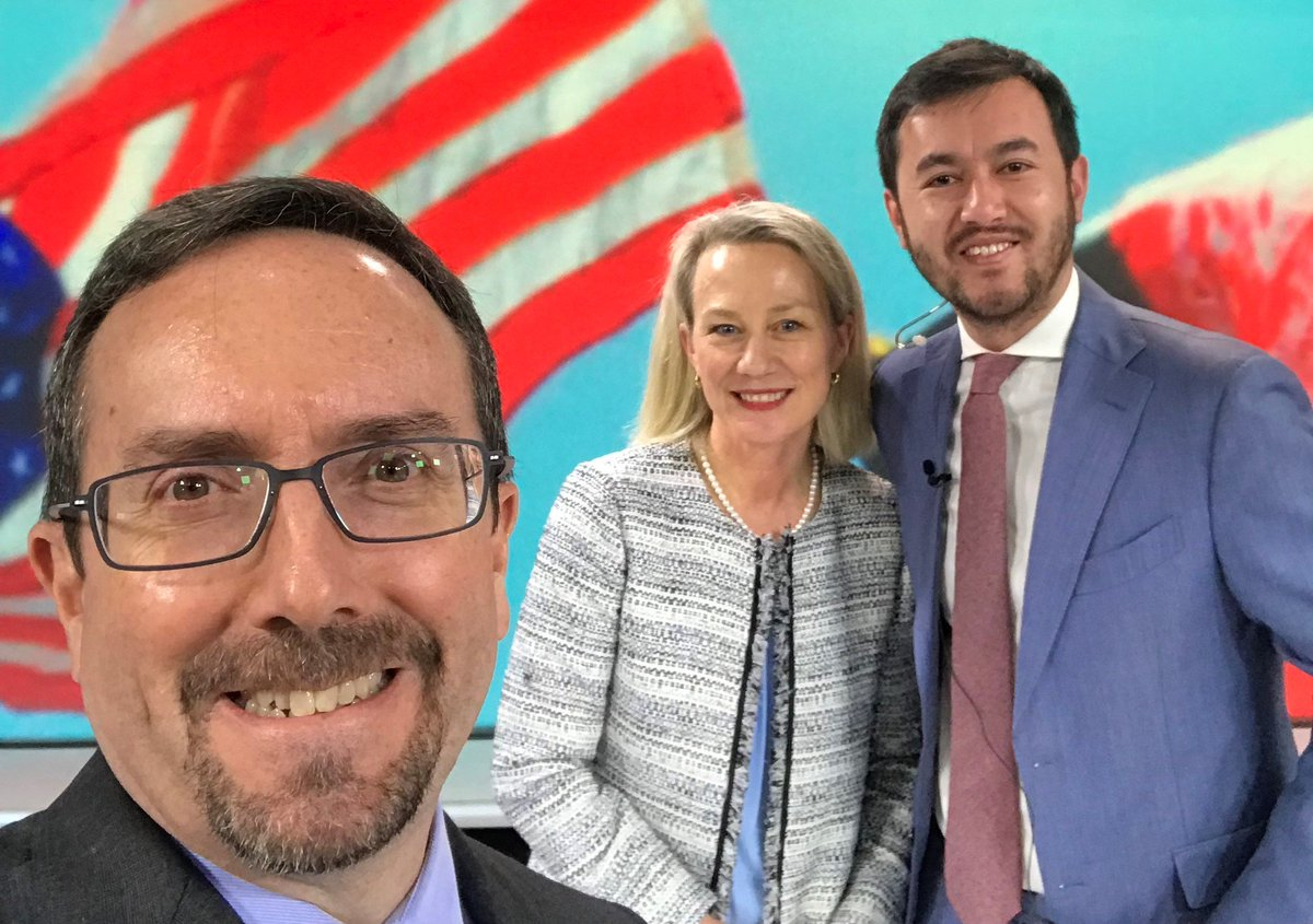 Delighted to join my friend and colleague Ambassador Alice Wells at @TOLOnews in #Kabul for an interview with @LNajafizada on the #USAfghanPartnership and efforts to achieve lasting peace. Looking forward to watching the interview Saturday!