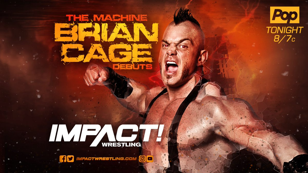 TONIGHT at 8pm ET on @PopTV/@fightnet - The Machine @MrGMSI_BCage debuts. The IMPACT roster has been put on notice. #IMPACTonPop