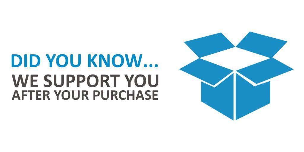 We don't just sell you a box, we support you from your initial purchase to the end of the products life https://t.co/yE9Aa6eI68  #heretosupportyou #overandout