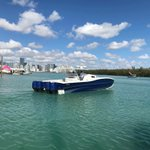 Check out this i45C from Insetta! Heading out for a sea-trial! Miami International Boat Show special thanks to Wrapped Up Custom Wraps & Graphics for a great design!  #InsettaBoatworks #MiamiBoatShow #MiamiBoatShow2018 #InsettaLifestyle #Insetta45 #Catamaran #PowerCat #Boatwraps