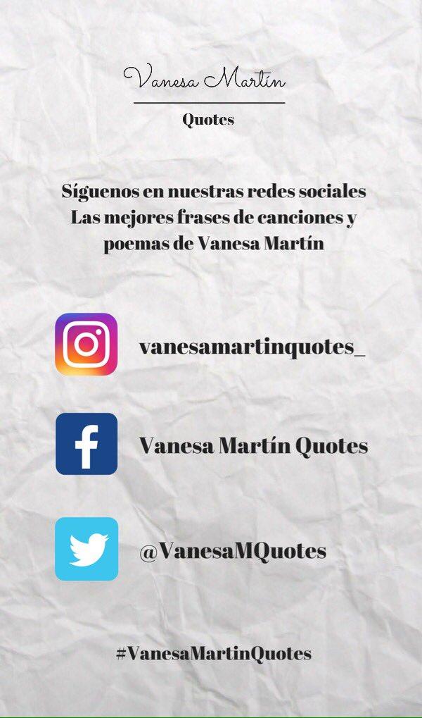 Vanesa Martín Quotes On Twitter Síguenos
