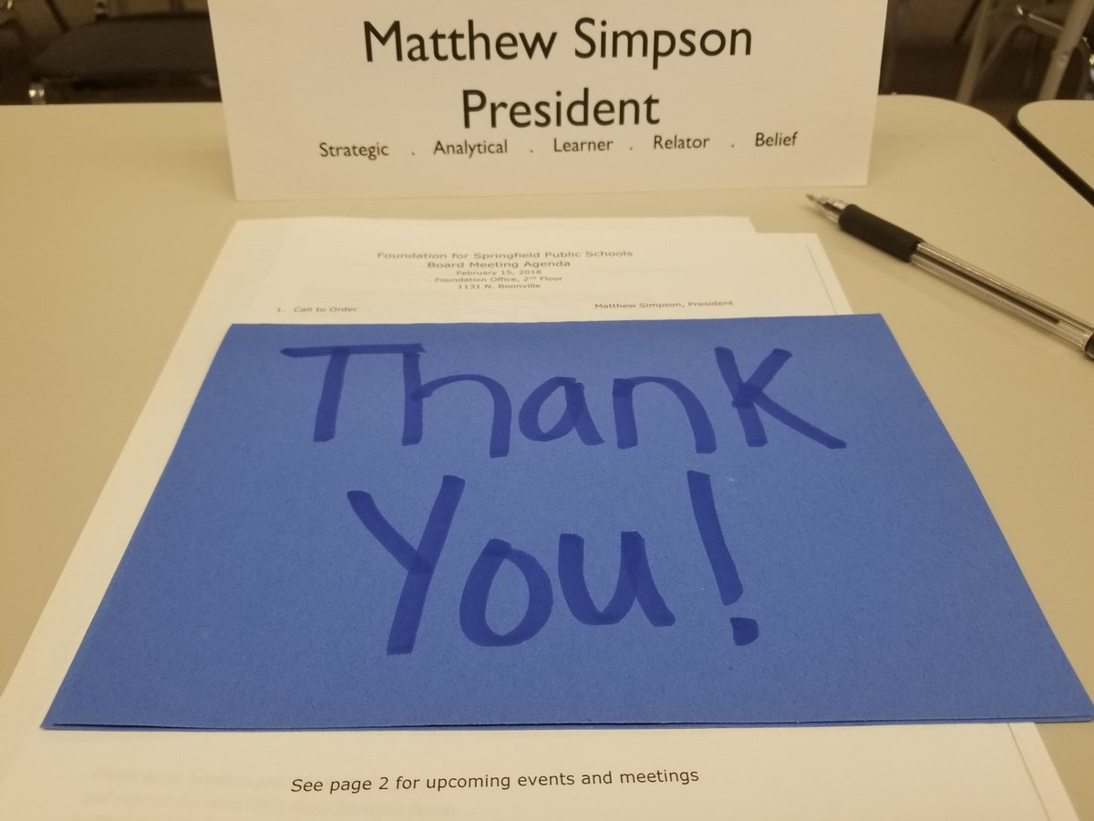 Thank you for being an awesome supporter and champion for our SPS students & teachers @mattsimpson417  #Support4SPS