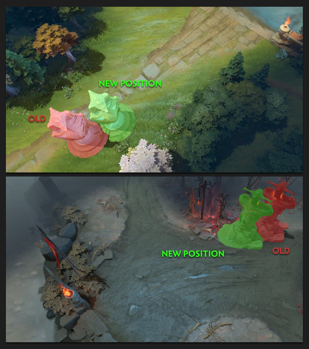 Tier 1 Midlane Tower Changes. #Dota2 htt...
