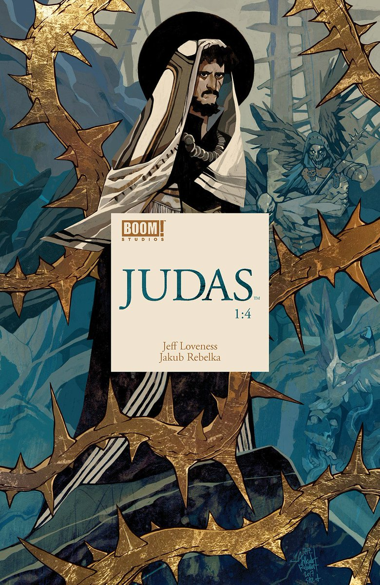 Just caught up on @JeffLoveness & Jakub Rebelkas JUDAS - holy hell its a stunning comic. A powerful look at Christian mythology that deepens and subverts everything you know about heaven, hell, and Jesus. Dont sleep on it.