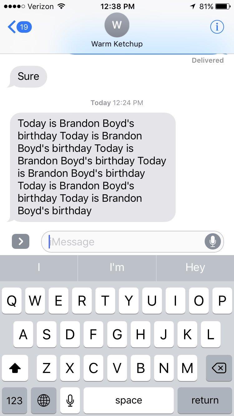 Happy birthday Brandon Boyd