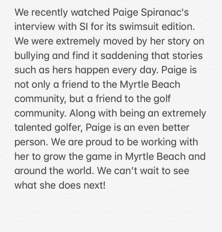 We love what @PaigeSpiranac is doing. Ke...