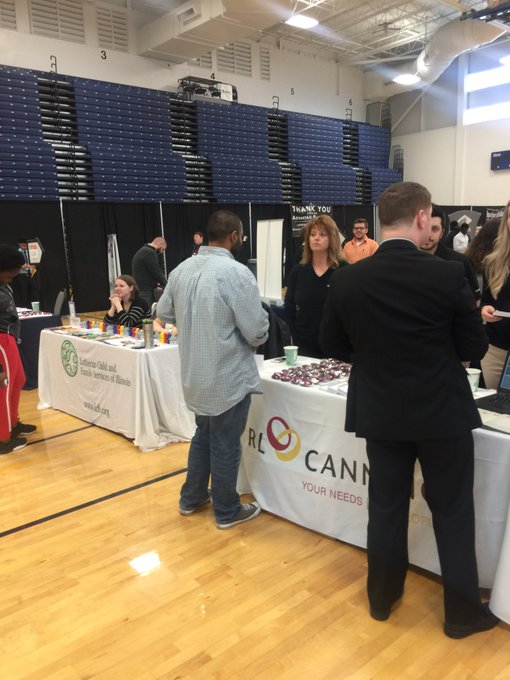 RL Canning and Lutheran Social Services are two new employers at the 2018 Career Connections Expo, which features more than 125 employers. The Expo runs until 2:30 p.m. today @UISedu. https://t.co/C41KljbJU2