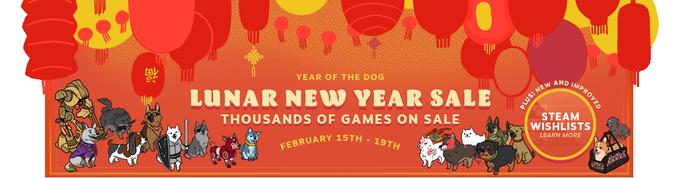Rebajas del Año Nuevo Lunar 2018 en @Steam_games - Ya