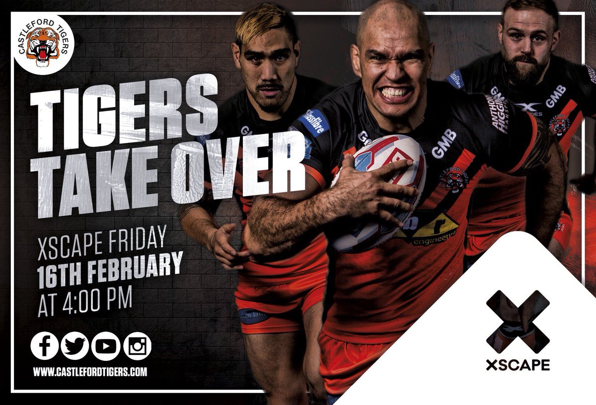 Plenty happening at @XscapeYorkshire from 4pm tomorrow as we officially launch our new Sports Superstore!  Take a look here at the activities you can join in on   http:// bit.ly/2Ggoajk       #tigerstakeover <br>http://pic.twitter.com/ceUJvVBHjR