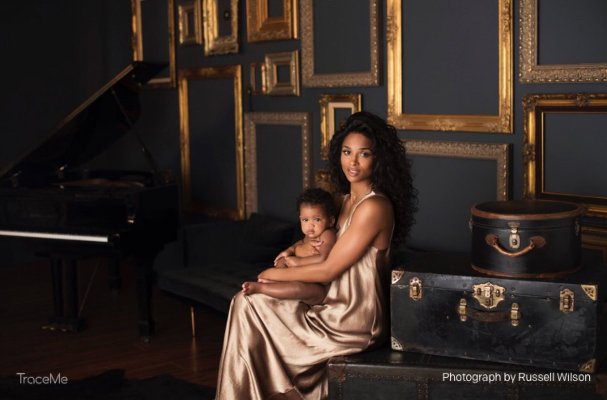 Ciara shares daughter Sienna Wilson's first photos