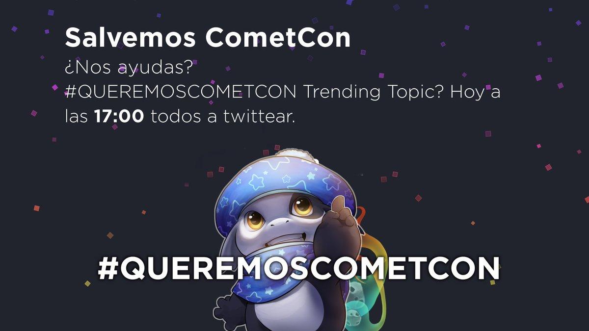 #QUEREMOSCOMETCON twitter.