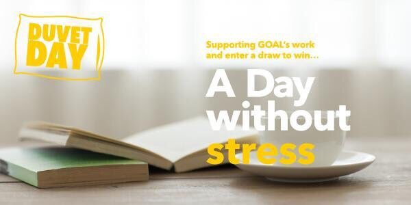 Join us on March 9th and sign up to host a @GOAL_Global Duvet Day in your office.  Companies raffle a days annual leave, employees buy a raffle ticket and proceeds are donated to GOAL.  Find out more goalglobal.org/events/event/g…