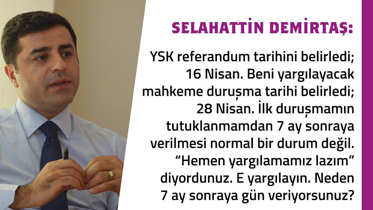 #Demirtaş'ın savunması 2. gün: Yargı ref...