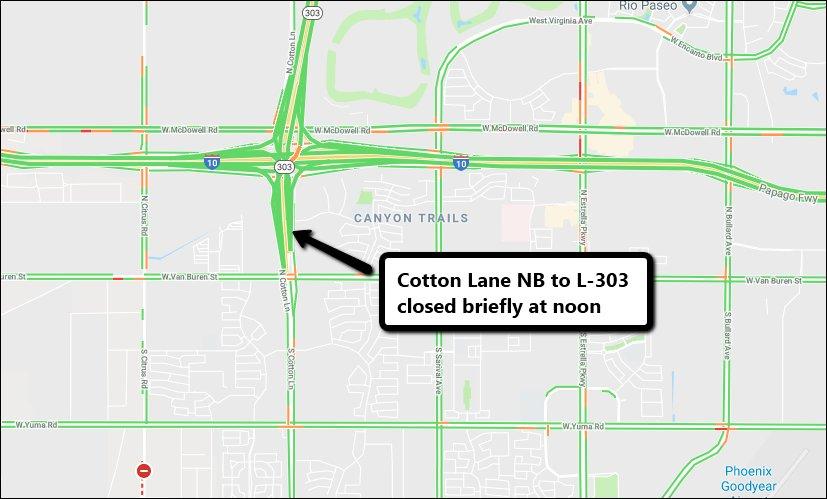 Map Of Loop 303 Arizona.Arizona Dot On Twitter Cotton Lane Connection To Northbound Loop