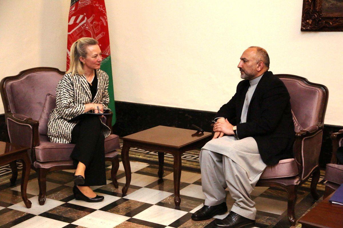 NSA met with Principal Deputy Assistant Secretary for South and Central Asian Affairs Alice Wells and talked about bilateral relations, #KabulProcess, and the upcoming conferences of in Tashkent – Uzbekistan.