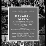 Image for the Tweet beginning: Discussion: Makakau ʻŌlelo: A conversation
