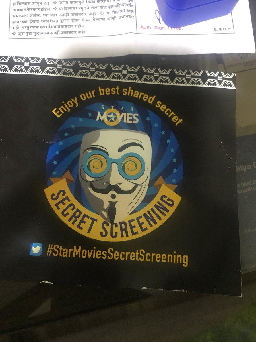 #StarMoviesSecretScreening twitter.