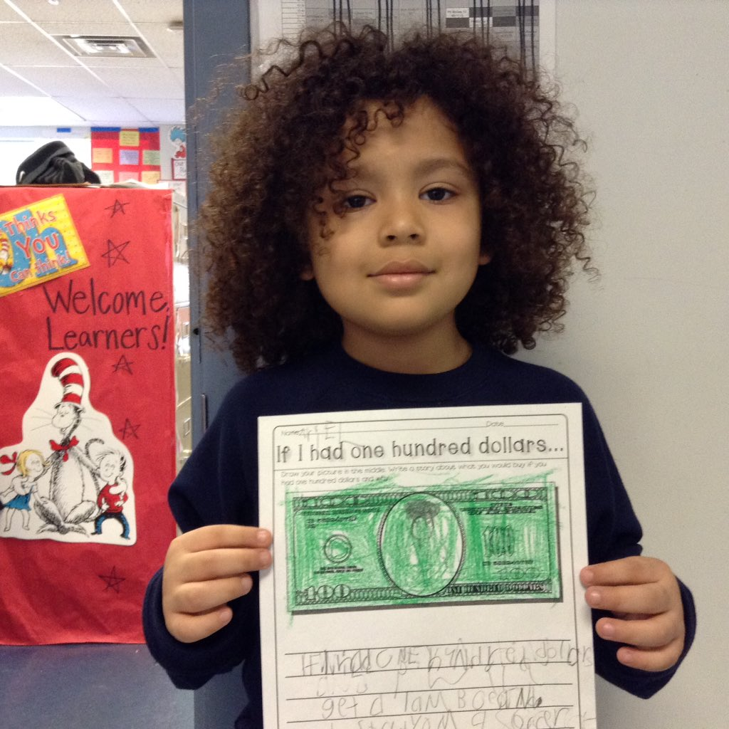 Hooray 100 days <a target='_blank' href='http://twitter.com/APSDrew'>@APSDrew</a> and this student would buy a Lamborghini, soccer stadium, manison, and of course food with $100 dollars <a target='_blank' href='http://search.twitter.com/search?q=APSisAwesome'><a target='_blank' href='https://twitter.com/hashtag/APSisAwesome?src=hash'>#APSisAwesome</a></a> <a target='_blank' href='https://t.co/IvjkdoTVlx'>https://t.co/IvjkdoTVlx</a>